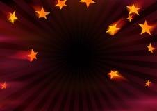 Estrellas que vuelan Foto de archivo libre de regalías
