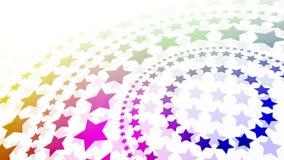 Estrellas radiales ilustración del vector