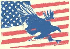 Estrellas, rayas y águila Foto de archivo