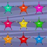 Estrellas retras cobardes Foto de archivo libre de regalías