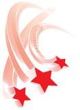 Estrellas rojas Imágenes de archivo libres de regalías