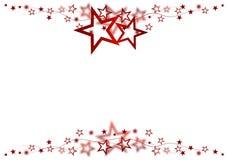Estrellas rojas foto de archivo