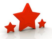 Estrellas rojas. Aislado en blanco. Imagen de archivo libre de regalías