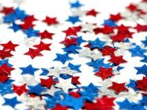 Estrellas rojas, blancas y azules Foto de archivo