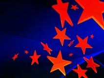 Estrellas rojas en fondo azul Libre Illustration