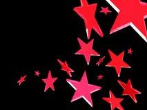 Estrellas rojas en fondo negro Imagen de archivo libre de regalías