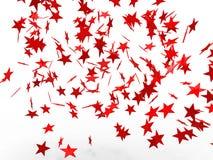 Estrellas rojas que caen Fotografía de archivo libre de regalías