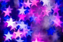 Estrellas rosadas y azules Fotografía de archivo libre de regalías