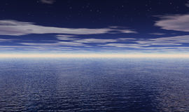 Estrellas sobre el océano fotos de archivo
