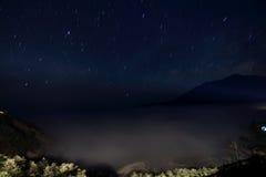 Estrellas sobre el paddyfield de la terraza de Hani Imagen de archivo libre de regalías