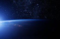 Estrellas sobre la tierra Imágenes de archivo libres de regalías