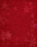 Estrellas sutiles en rojo Fotografía de archivo