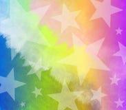 Estrellas teñidas Tye de la acuarela