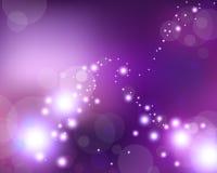 Estrellas violetas de la luz Imagen de archivo