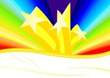 Estrellas y arco iris Libre Illustration