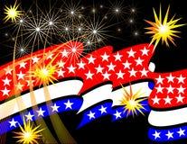 Estrellas y celebración de las rayas Fotografía de archivo libre de regalías