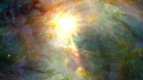 Estrellas y colores en espacio metrajes
