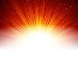 Estrellas y copos de nieve en de oro rojo. Imagenes de archivo