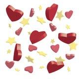 Estrellas y corazones Imagenes de archivo