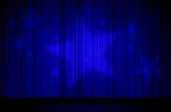Estrellas y cortina azul Foto de archivo libre de regalías
