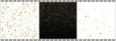 Estrellas y Dots Abstract Backgrounds el caer Ilustración del vector stock de ilustración