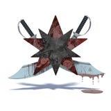 Estrellas y espadas en blanco Imagenes de archivo