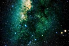 Estrellas y fondo del universo de la noche del cielo del espacio exterior de la galaxia Fotografía de archivo libre de regalías