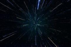 Estrellas y fondo del universo de la noche del cielo del espacio exterior de la galaxia Fotos de archivo