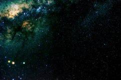 Estrellas y fondo del universo de la noche del cielo del espacio exterior de la galaxia Foto de archivo libre de regalías