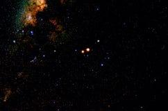 Estrellas y fondo del universo de la noche del cielo del espacio exterior de la galaxia Imagenes de archivo