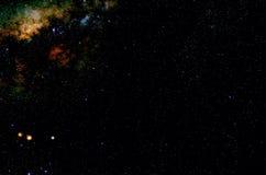 Estrellas y fondo del universo de la noche del cielo del espacio exterior de la galaxia Fotografía de archivo