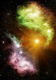 Estrellas y galaxias stock de ilustración