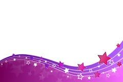 Estrellas y líneas abstractas de la violeta del rosa del fondo Foto de archivo libre de regalías