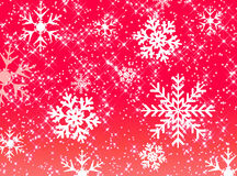 Estrellas y modelo del copo de nieve Foto de archivo