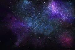 Estrellas y nebulosas en el universo ilustración del vector