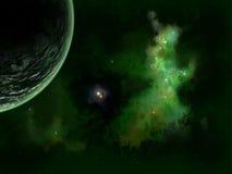 Estrellas y planeta Imágenes de archivo libres de regalías