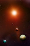 Estrellas y planetas del espacio libre illustration