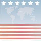 Estrellas y rayas americanas Wor Imagen de archivo libre de regalías