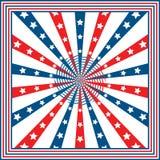 Estrellas y rayas del indicador americano Imagen de archivo libre de regalías