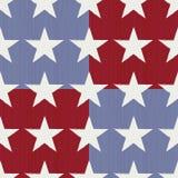 Estrellas y rayas inconsútiles Fotografía de archivo libre de regalías
