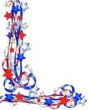 Estrellas y rayas patrióticas de la frontera Fotografía de archivo libre de regalías