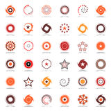Estrellas y rotación Diseñe los elementos en colores calientes Imágenes de archivo libres de regalías
