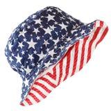 Estrellas y sombrero de las rayas Fotografía de archivo libre de regalías