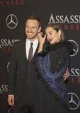 Estrellato: Michael Fassbender y Marion Cotillard Fotografía de archivo