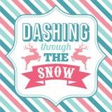 Estrellazo con el arte de la palabra de los refranes de la Navidad de la nieve stock de ilustración