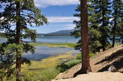 Estremità del nord del lago big Bear Fotografie Stock Libere da Diritti