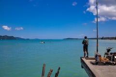 Estremità del pilastro in Chalong, Phuket, Tailandia fotografia stock libera da diritti