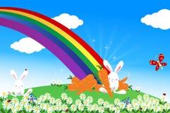 Estremità del Rainbow Fotografia Stock Libera da Diritti
