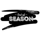 Estremità dell'etichetta del nero di stagione con il fondo di pennellata di lerciume Illustrazione di Stock