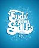 Estremità dell'illustrazione di vendita di stagione invernale royalty illustrazione gratis